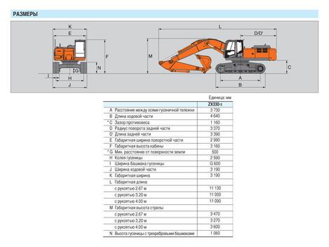 гусеничный экскаватор Hitachi ZX330-3 характеристики