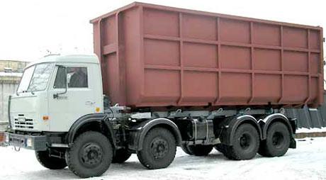 мусоровоз со сменным контейнером КамАЗ-65201 - МСК-22