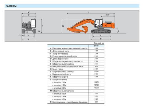гусеничный экскаватор Hitachi ZX240-3 характеристики