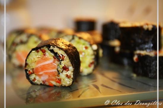 Maki quinoa et saumon