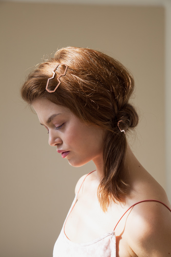 CLINQ Edition #02: NELLY; contemporary hair jewelry; hair clips; barrettes