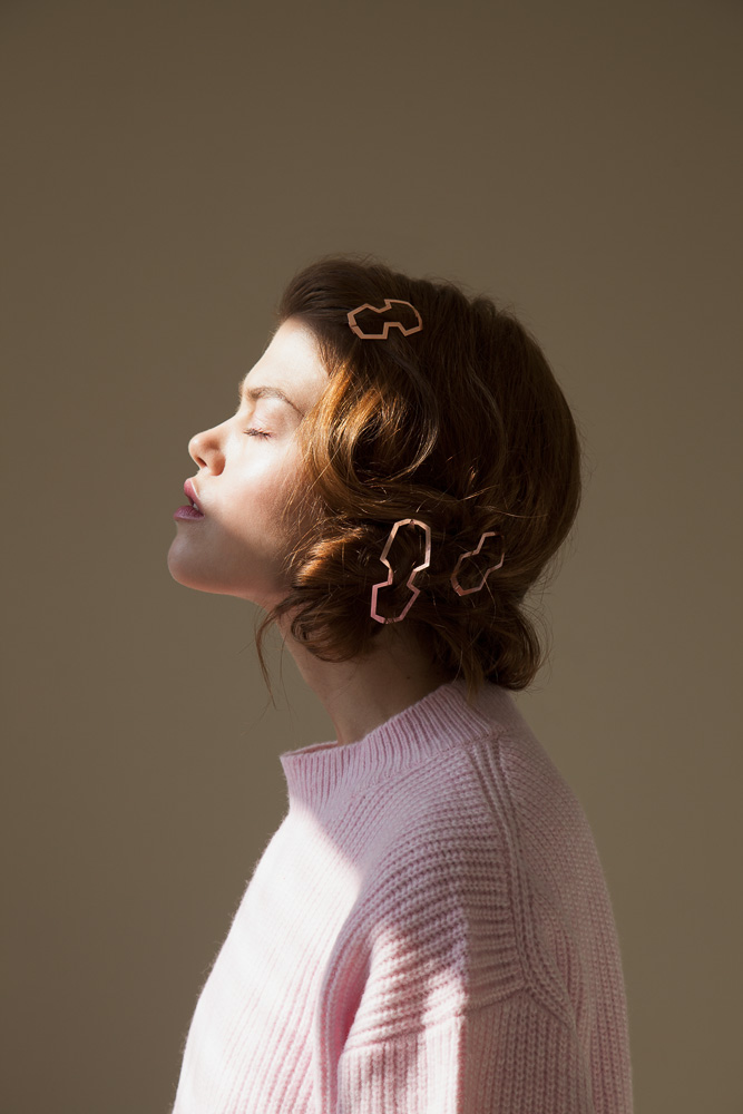 CLINQ Edition #01: BIA; NELLY; MARIE; contemporary hair jewelry; hair clips