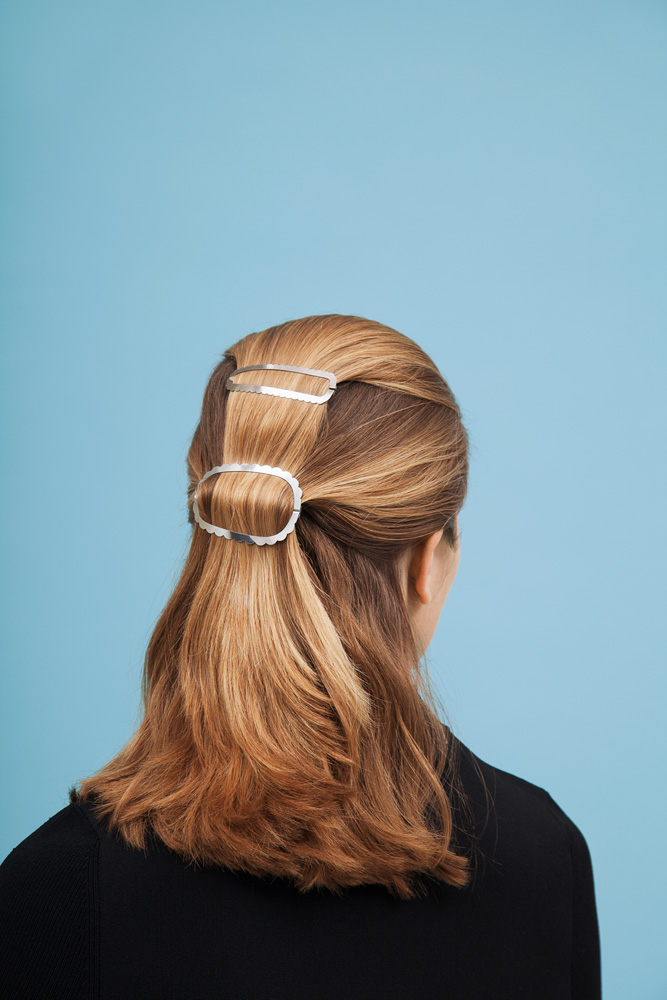 CLINQ Edition #08: NORA; TILLY; contemporary hair jewelry; hair clips; barrettes