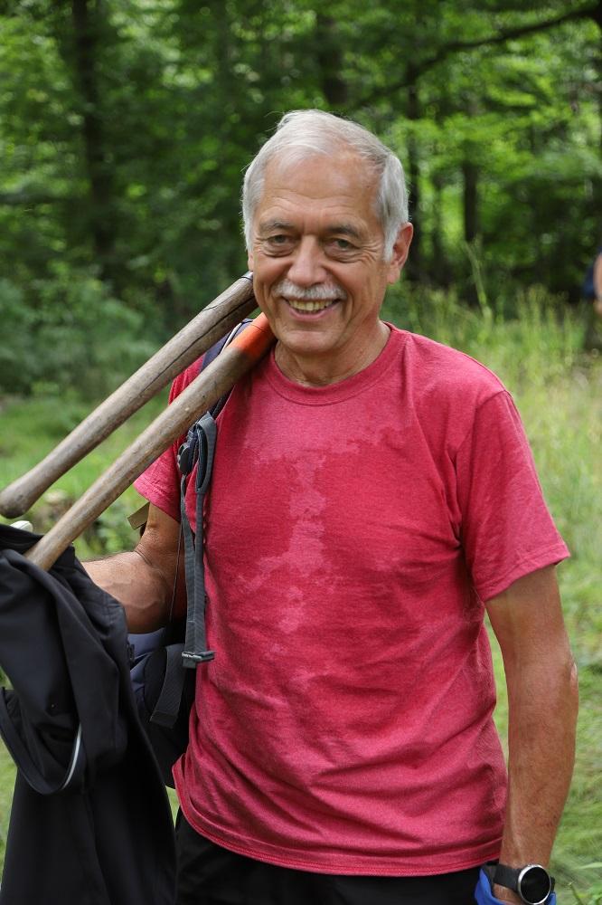 Den Schweiß seiner Arbeit findet Roland Rabin wie viele andere auf seinem T-Shirt.