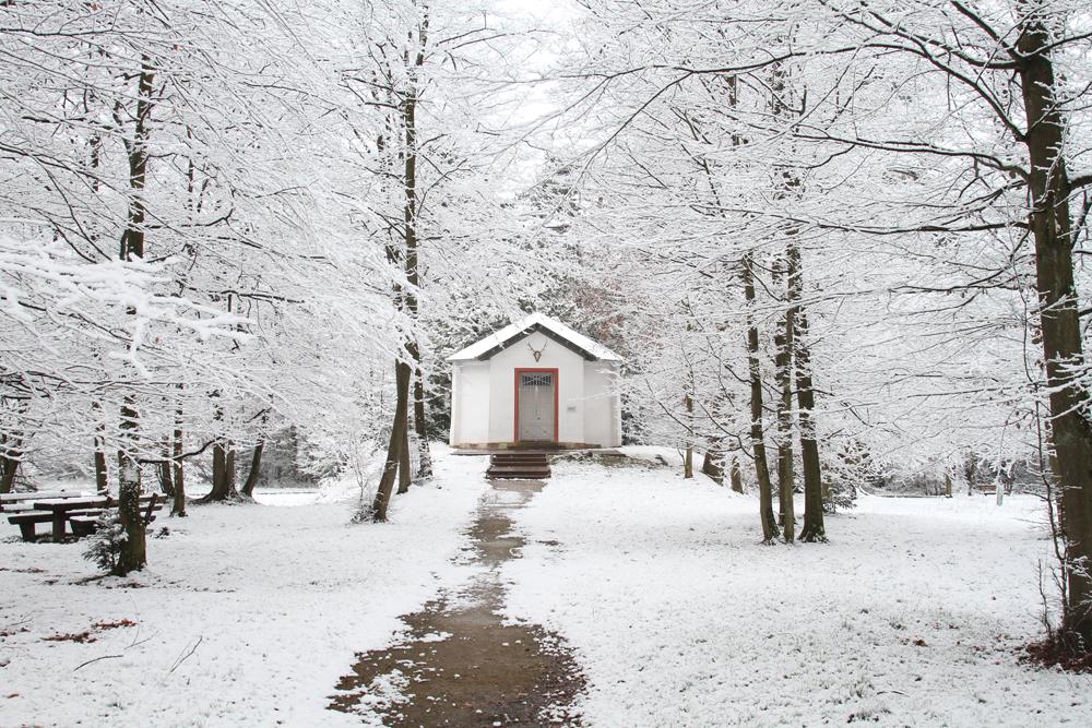 Dianaburg im Schnee © Hans Günter Abt