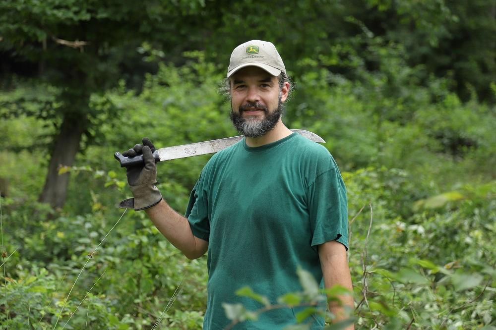 Als Ehrenamtler ist Forstingenieur Florian Voigt diesmal unterwegs.