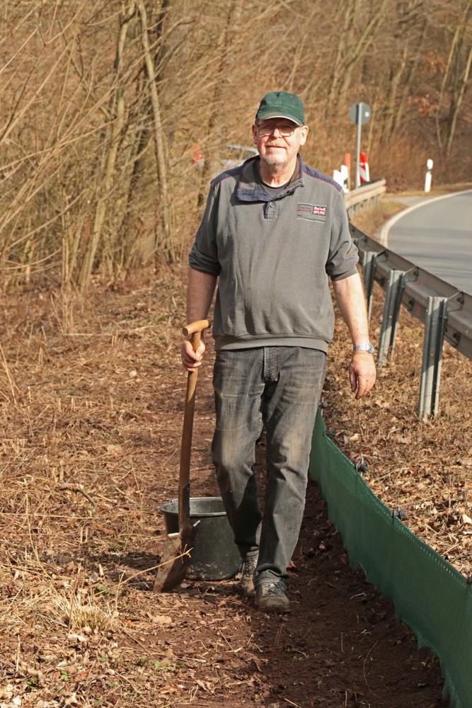 Gerhard Schweigert ist häufig am Zaun im Einsatz
