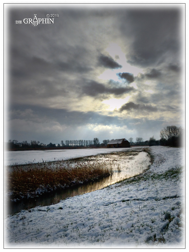 Winterabend - Reinheimer Teich © Jennie Bödeker