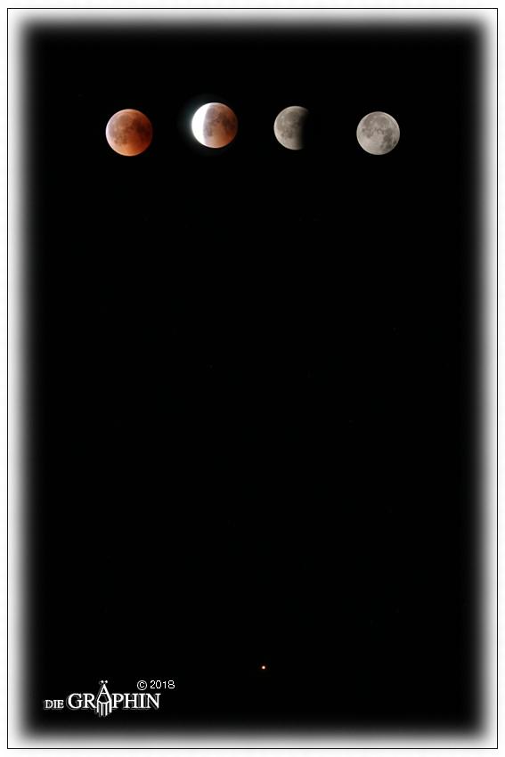 Mondfinsternis mit Mars © Jennie Bödeker