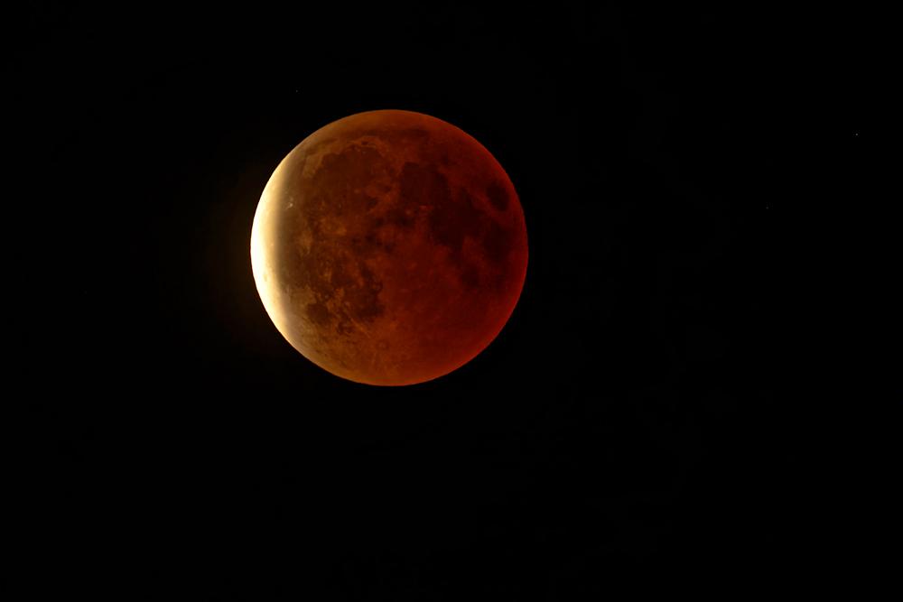 Beginn vom Ende der Mondfinsternis © Jürgen Landshoeft