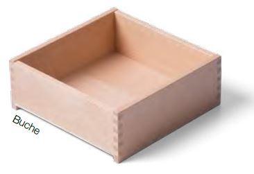 Buche Massivholz- Schublade nach Maß