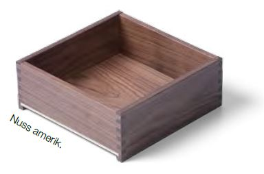 Nuss Massivholz- Schublade nach Maß