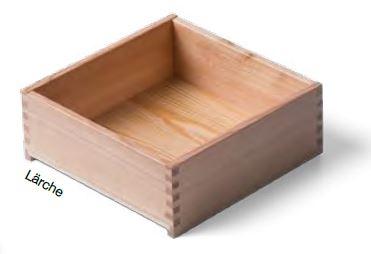Lärche Massivholz- Schublade nach Maß