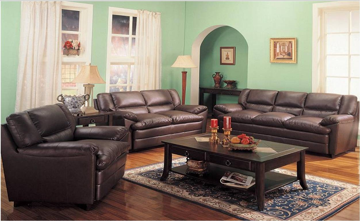 Sala 3 Piezas Sofa Love Seat Y Sillon En Piel Harper