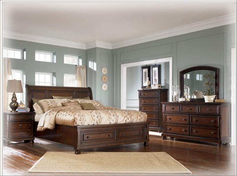 Porter recamara moderna de madera queen de 6 piezas for Recamaras modernas de madera