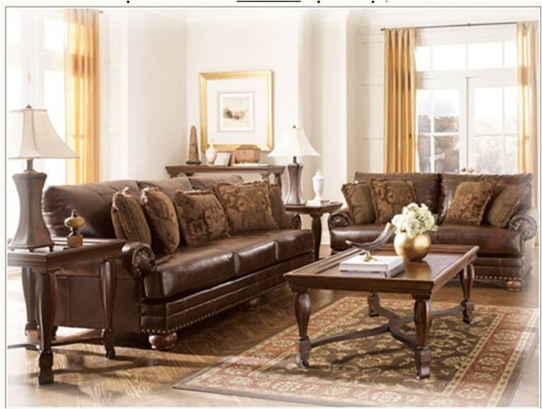 Sala 2 piezas sofa y love seat en piel durablend antique - Sofa piel vintage ...