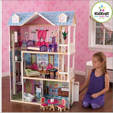 Dreamy kidkraft casita de mu ecas de ensue o dollhouse - Casa de barbie con ascensor ...