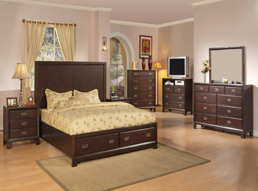 Recamara moderna de madera queen bellwood set 6 piezas for Recamaras de madera df