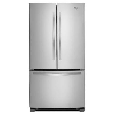 Refrigerador whirpool 25 2 pies acero inoxidable puerta for Refrigerador whirlpool