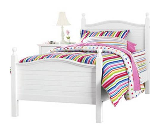Kylie collection color blanco cama individual for Ancho cama individual