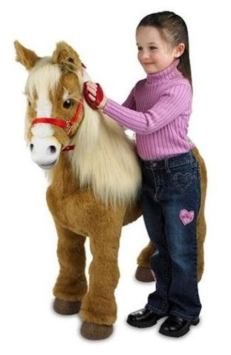 Horse Toys For Girls : Caballito de juguete furreal friends butterscotch pony
