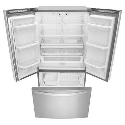 Refrigerador whirpool 25 2 pies acero inoxidable puerta francesa 3 puertas wrf535smbm - Temperatura freezer casa ...