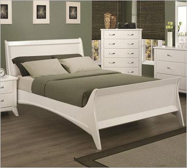 Recamara moderna de madera queen eleanor set 6 piezas for Buros de cama modernos