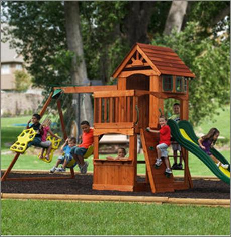 Juego de columpios de madera adventure play atlantis - Columpios para jardin ...