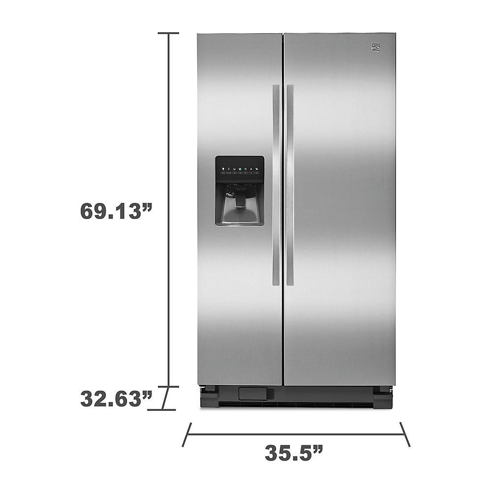 Refrigerador kenmore 25 pies dos puertas duplex acero inoxidable modelo 51123 buditasan shop - Dimensiones de una nevera ...