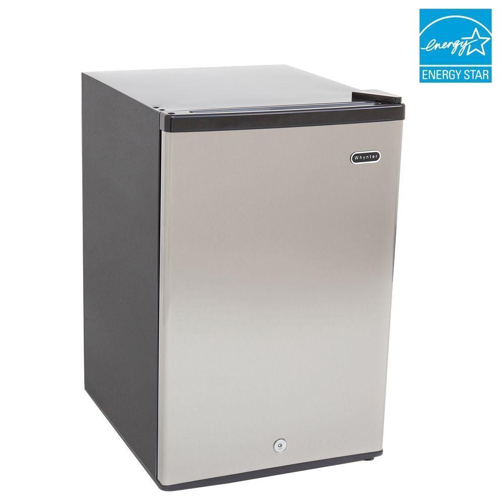Congelador vertical whynter 2 1 pies acero inoxidable cuf for Congelador vertical pequeno