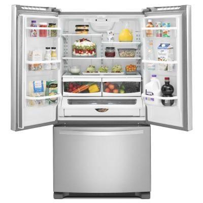 Refrigerador Whirpool 25 2 Pies Acero Inoxidable Puerta