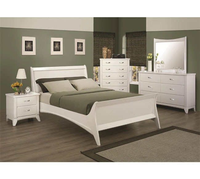 recamara moderna de madera queen eleanor set 6 piezas