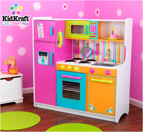 Cocinita kidkraft deluxe big bright buditasan shop for Cocinitas de juguete segunda mano
