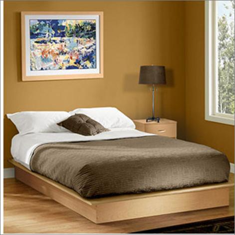 Cama de madera south shore basics matrimonial color maple for Una cama matrimonial