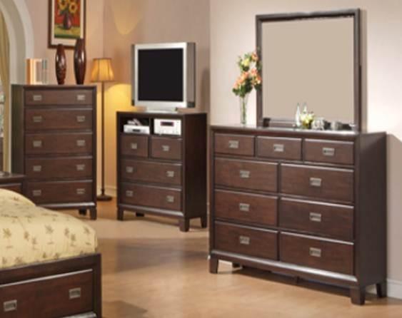 Recamara moderna de madera queen bellwood set 6 piezas for Recamaras de madera en monterrey