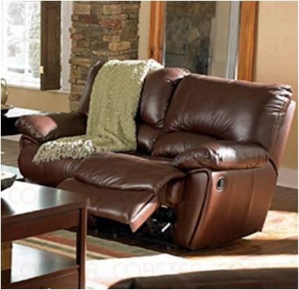 Sala 2 piezas sofa y love seat en piel 4 reclinables for Sofas y sillones de piel