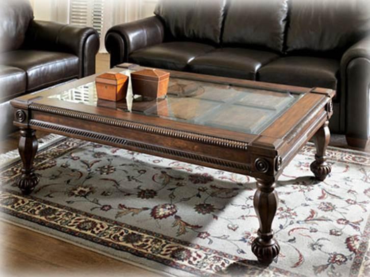 Mesa de centro ashley mantera center coffee table for Comedores ashley