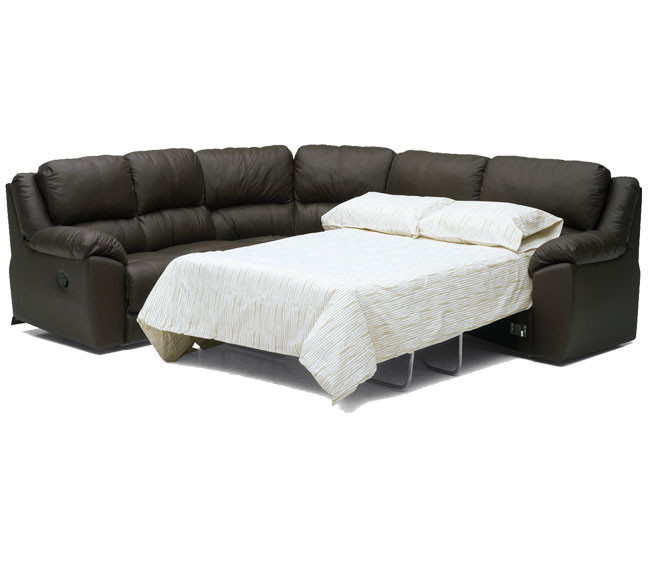 Sala seccional sofa cama doble reclinable palliser benson for Sofa cama modular