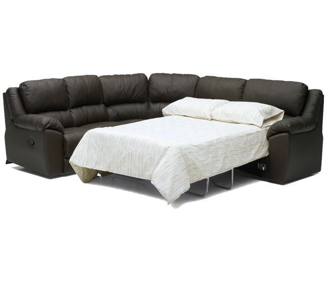 Sala seccional sofa cama doble reclinable palliser benson for Sofas modulares piel