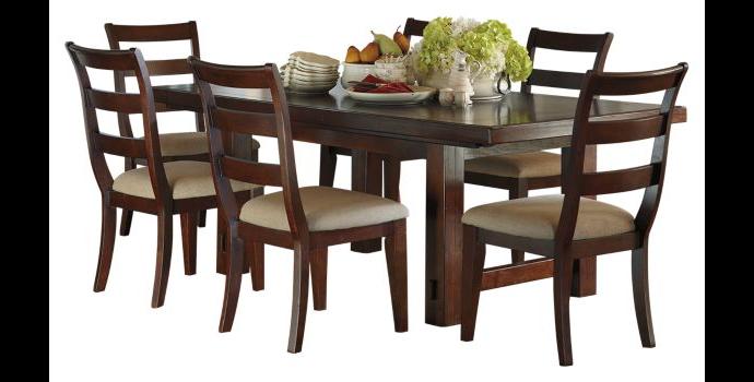 Comedor formal de madera 7 piezas hindell park extension dining table 5 sillas 1 banca - Comedor con banca ...