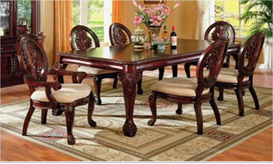 Comedor Formal de madera 7 piezas por Coaster 7piece Formal Dinning ...