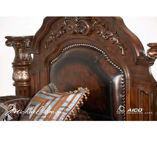 Cama de madera con Dozel Manhattan Suite B551-71 Queen Canopy ...