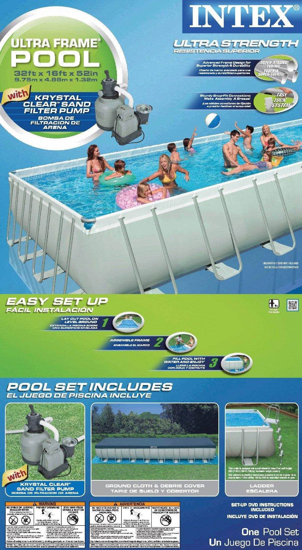Intex pool 32 x 16 x 52 manual
