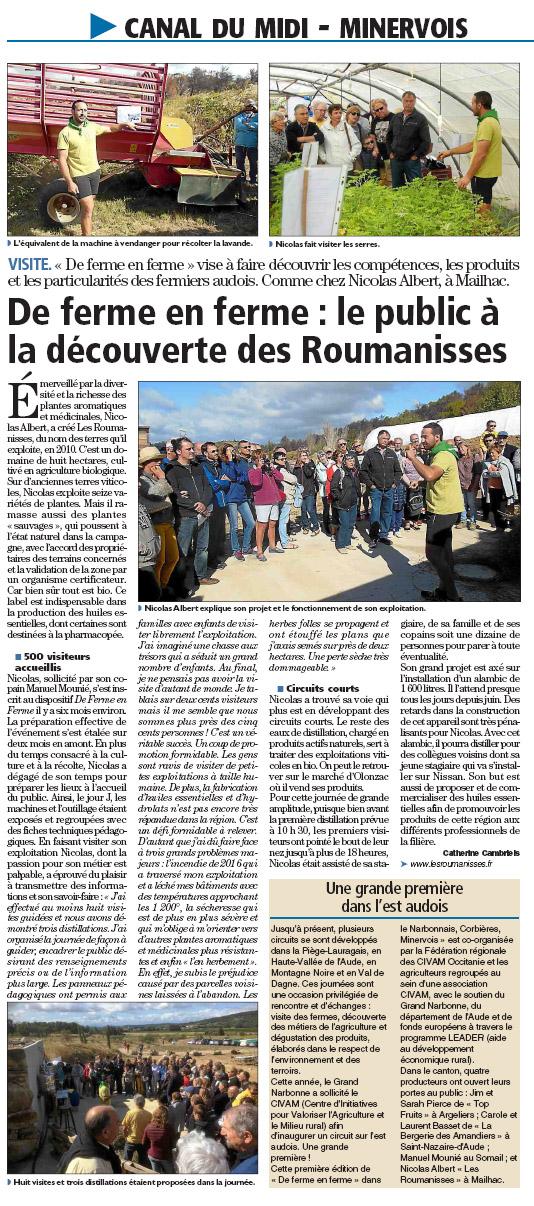 Article L'Indépendant 02.10.2017