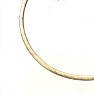 k18 リバーシブルオメガネックレス (ゴールド面)
