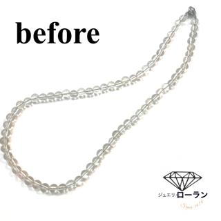水晶のネックレスからの念珠つくり