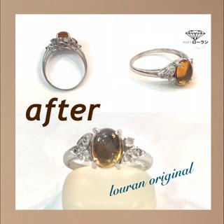 新しい爪を立て、宝石を変えたリング