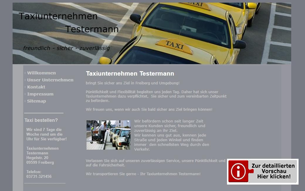Template Taxiunternehmen