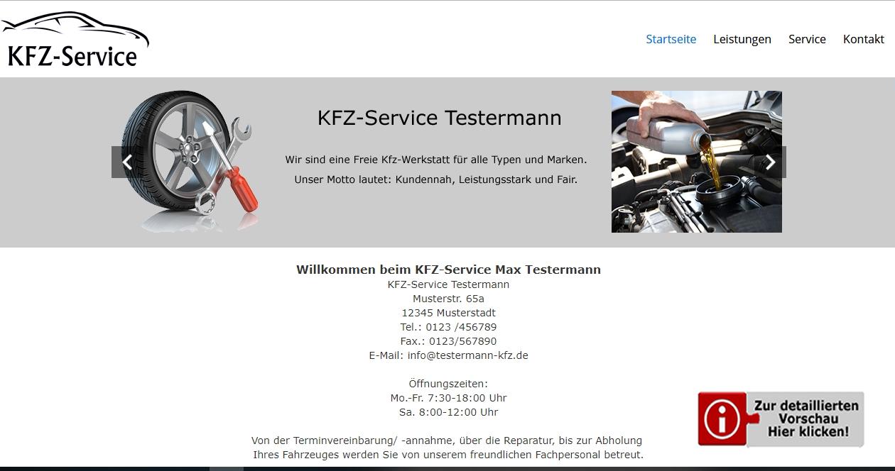 Template KFZ-Service