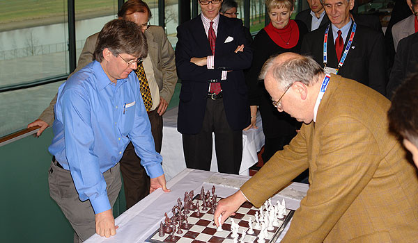 Ausstellung zur Schacholympiade im ICD Dresden